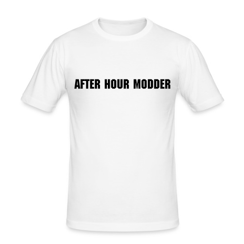 after hour modder Weiss - Männer Slim Fit T-Shirt
