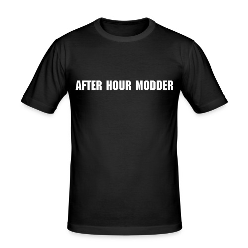 after hour modder Schwarz - Männer Slim Fit T-Shirt