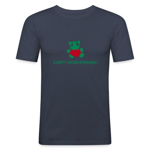 Stoppt Katzenpornos - Männer Slim Fit T-Shirt