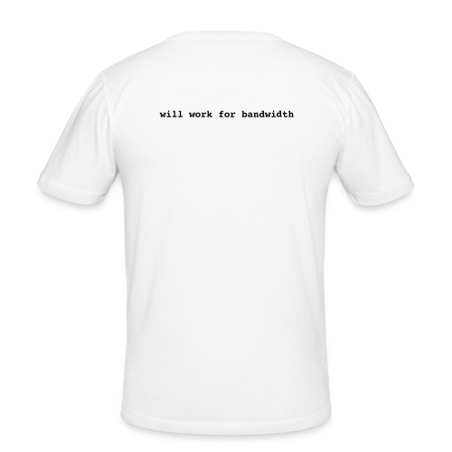 will work for... - weiß|schwarz - Männer Slim Fit T-Shirt