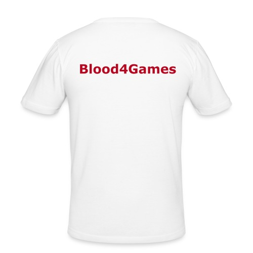 Blood4Games - weiß - Männer Slim Fit T-Shirt