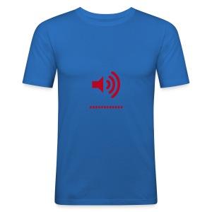 Speaker red/light blue - Men's Slim Fit T-Shirt