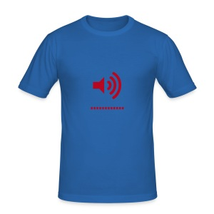 Speaker red/light blue - Men's Slim Fit T-Shirt