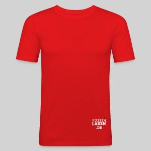 promo fit-t orange beidseitig - Männer Slim Fit T-Shirt