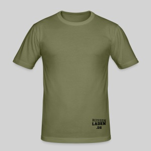 promo fit-t creme beidseitig - Männer Slim Fit T-Shirt