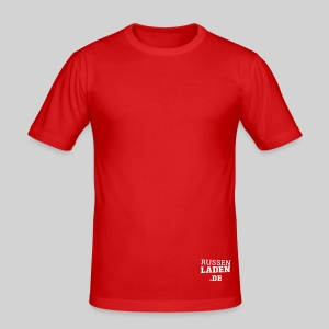 promo fit-t rot beidseitig - Männer Slim Fit T-Shirt