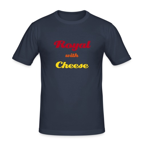 Royal with Cheese - Männer Slim Fit T-Shirt
