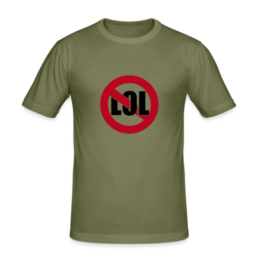 Nicht lachen! - Männer Slim Fit T-Shirt