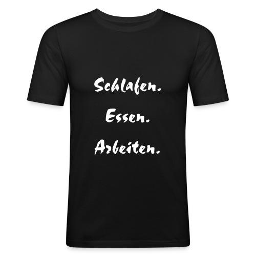 Motto T-Shrit - Männer Slim Fit T-Shirt