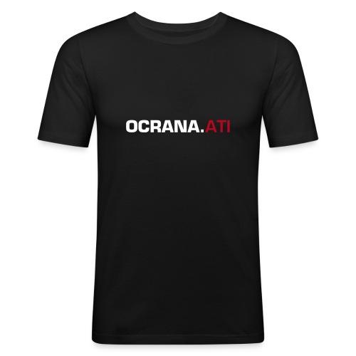OCRANA Shirt mit Schriftzug - Männer Slim Fit T-Shirt