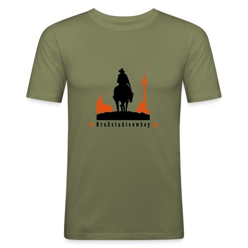 Cowboy - Männer Slim Fit T-Shirt