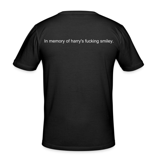 Harry's fucking Smiley - Männer Slim Fit T-Shirt