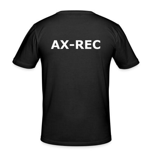 AX-REC Backprint - Männer Slim Fit T-Shirt