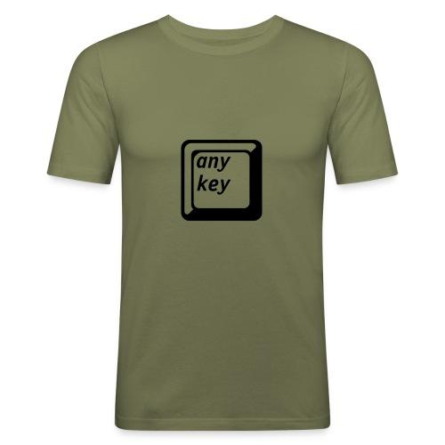 any key - Männer Slim Fit T-Shirt