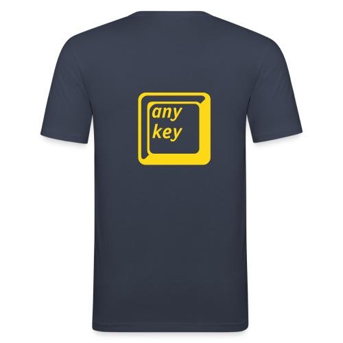 Any Key Shirt - Männer Slim Fit T-Shirt