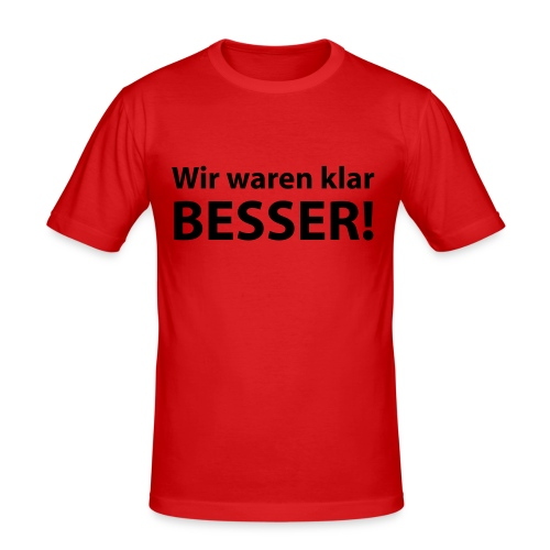 EM-T-Shirt - Männer Slim Fit T-Shirt