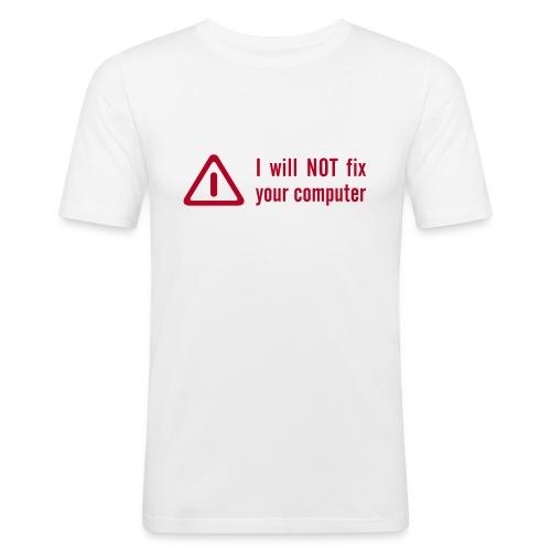 Männer Slim Fit T-Shirt - Gleich einmal Klartext geredet. Lasst euch nicht zu Sachen zwingen, die ihr nicht könnt... äh, wollt...
