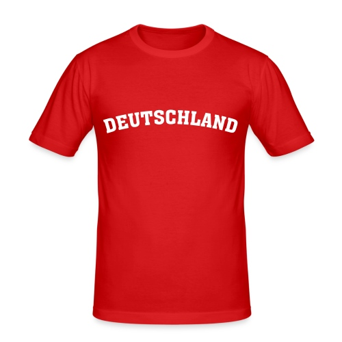 Deutschland Shirt - Männer Slim Fit T-Shirt