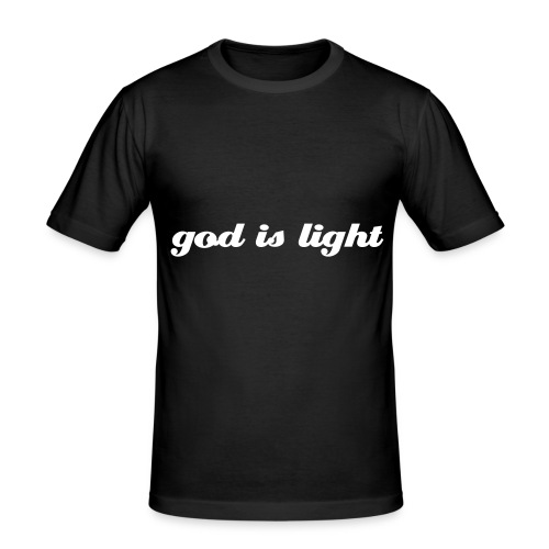 god is light - Männer Slim Fit T-Shirt