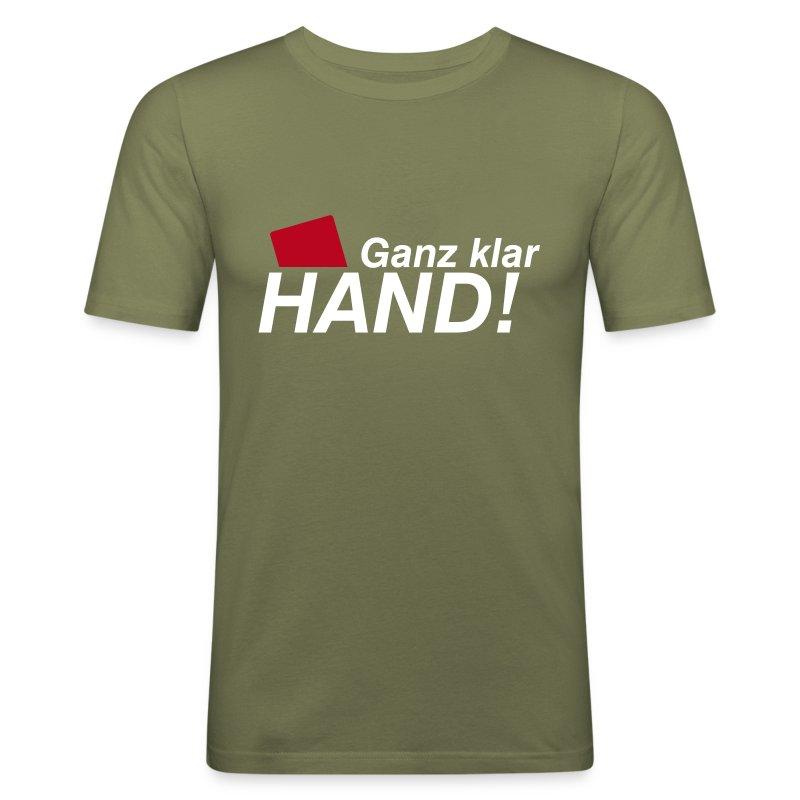 Ganz klar Hand - Männer Slim Fit T-Shirt