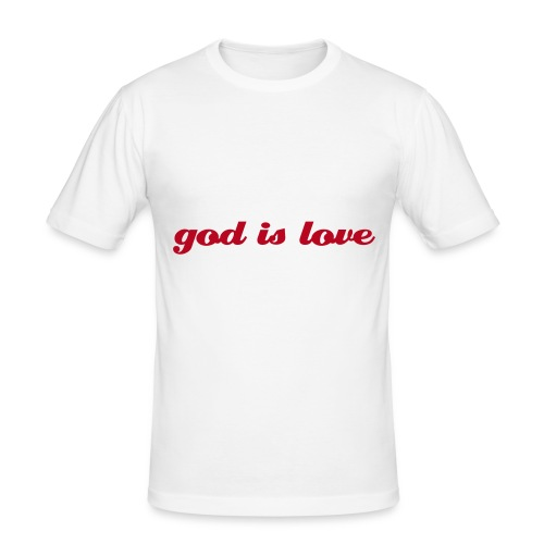 god is love - Männer Slim Fit T-Shirt