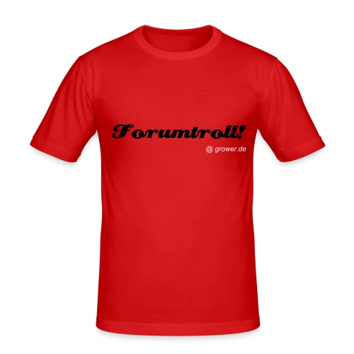Forumtroll Shirt - Männer Slim Fit T-Shirt