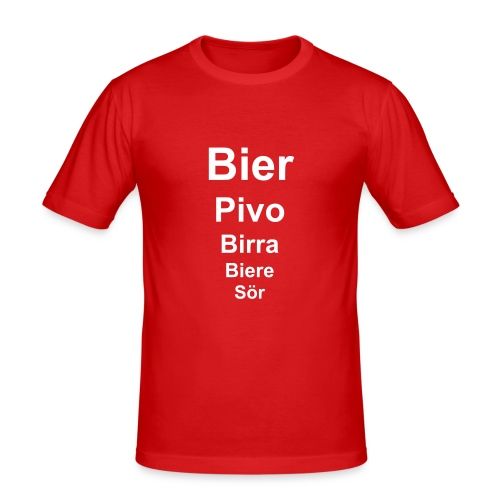 BierWear - Männer Slim Fit T-Shirt