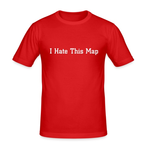 I Hate This Map - Männer Slim Fit T-Shirt