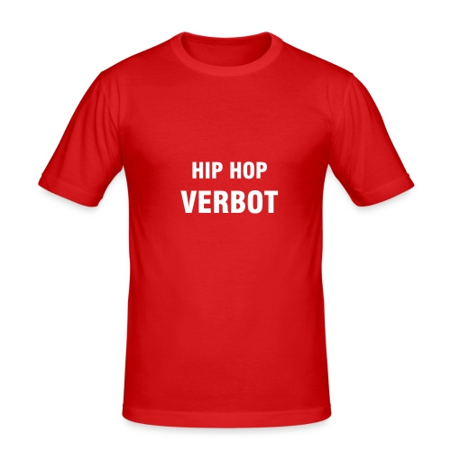 Hip Hop Verbot Hanes Fit-T Rot - Männer Slim Fit T-Shirt