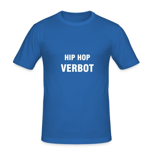 Hip Hop Verbot Hanes Fit-T Hellblau - Männer Slim Fit T-Shirt