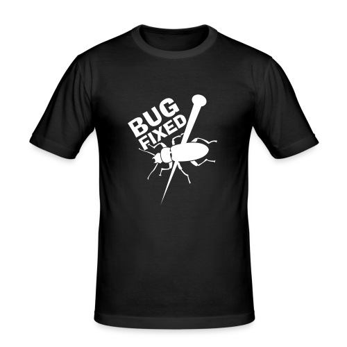 T-Shirt Bug Fixed - Männer Slim Fit T-Shirt