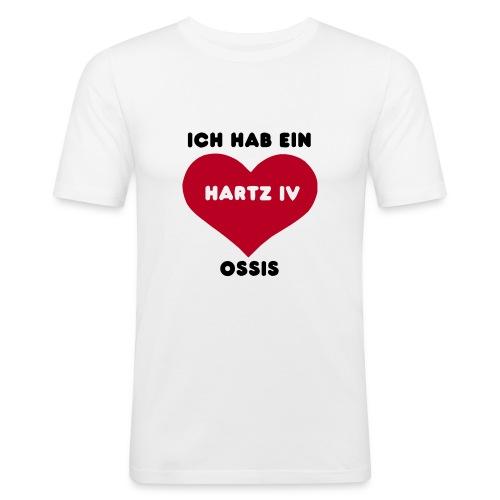 Hartz körperbetont - Männer Slim Fit T-Shirt
