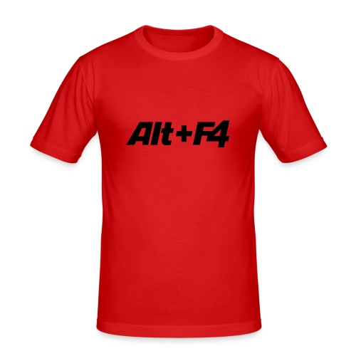 t-shirt ALT+F4 - Männer Slim Fit T-Shirt