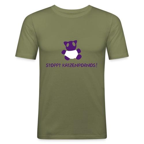 Katzenporno- camel - Männer Slim Fit T-Shirt