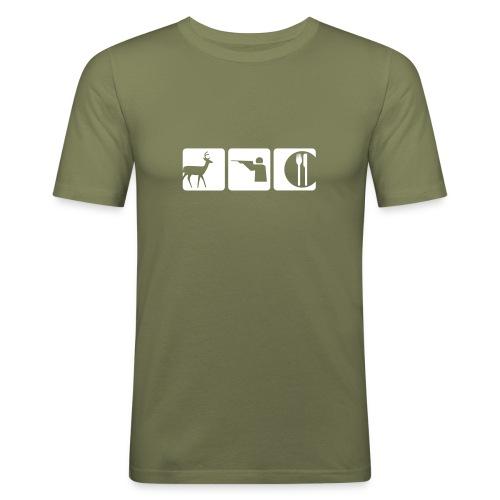 Hirsch Jäger - Männer Slim Fit T-Shirt