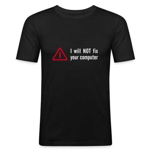 not fix - Männer Slim Fit T-Shirt