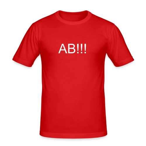 AB!!! - Männer Slim Fit T-Shirt