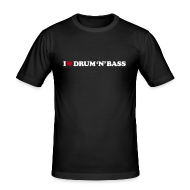 T-Shirts ~ Men's Slim Fit T-Shirt ~ I Love Drum & Bass Slim Fit Tee (Black)