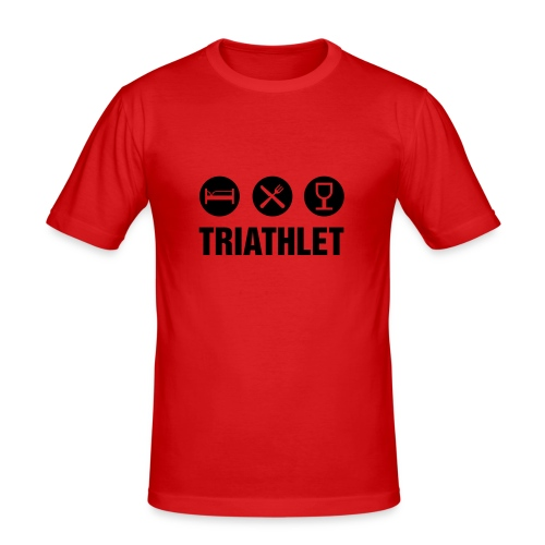 Festival-Guide Triatlet - Männer Slim Fit T-Shirt