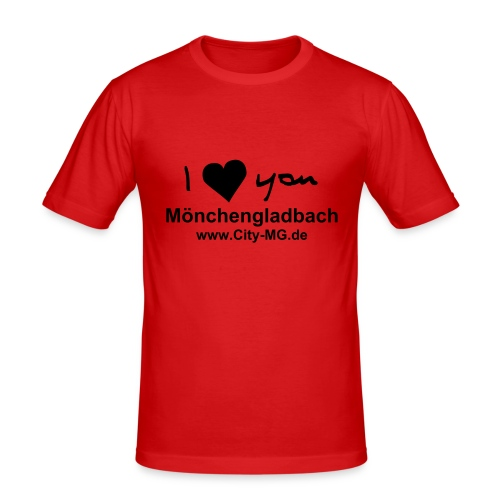 I love you - MG Shirt - Männer Slim Fit T-Shirt