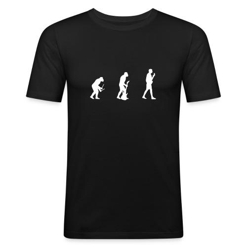 la musica evoluciona - Camiseta ajustada hombre