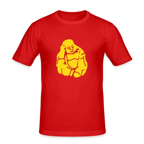 Think! red/yellow - Men's Slim Fit T-Shirt