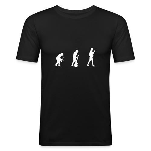 Evolution of Rock - Männer Slim Fit T-Shirt