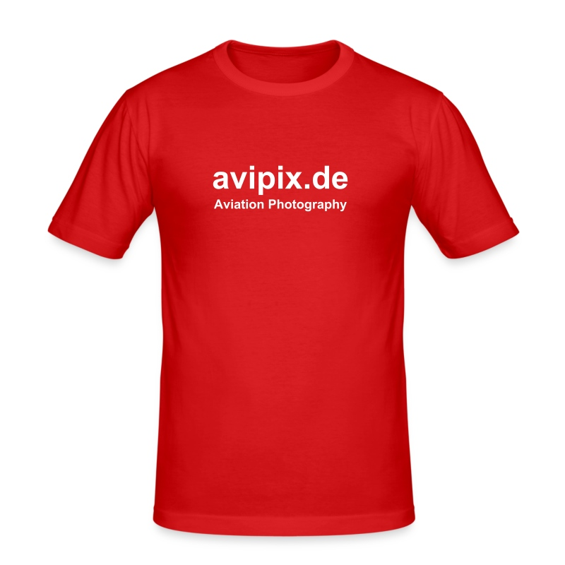 avipix.de T-Shirt, red - Männer Slim Fit T-Shirt