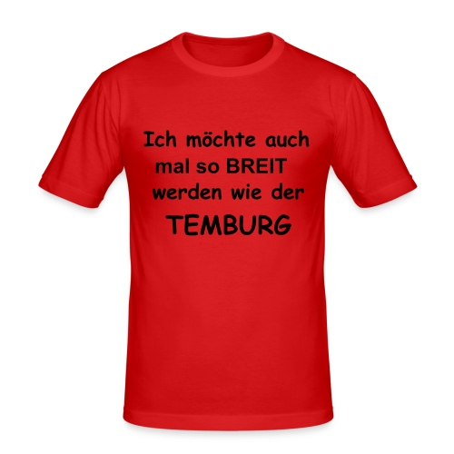 Temburg Fan - Shirt - Männer Slim Fit T-Shirt