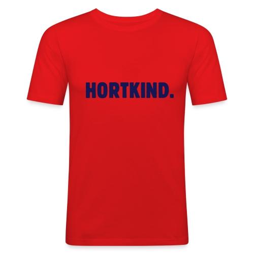 Funspruch T-Shirt Hortkind - Männer Slim Fit T-Shirt