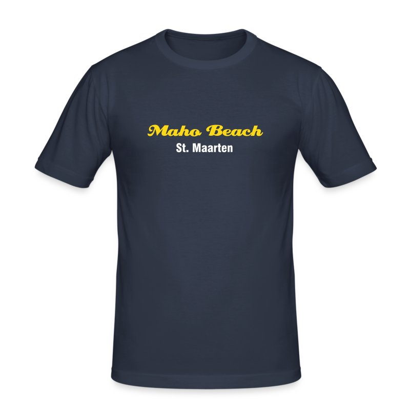 Maho Beach T-Shirt, dark navy - Männer Slim Fit T-Shirt