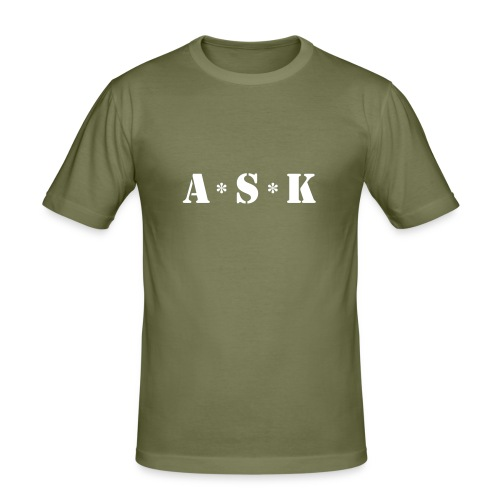 A*S*K - Männer Slim Fit T-Shirt