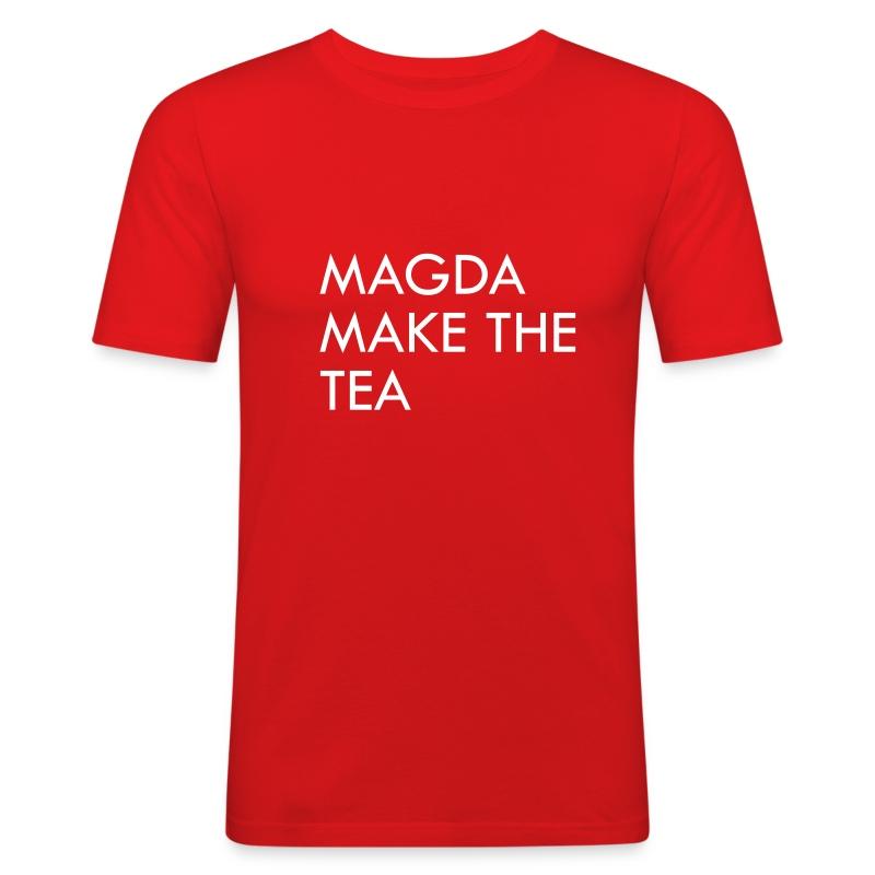 Magda Make The Tea - Men's Slim Fit T-Shirt