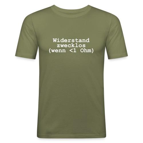 Widerstand zwecklos - Männer Slim Fit T-Shirt